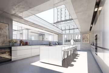 Architekt SketchUp Modell innen 002
