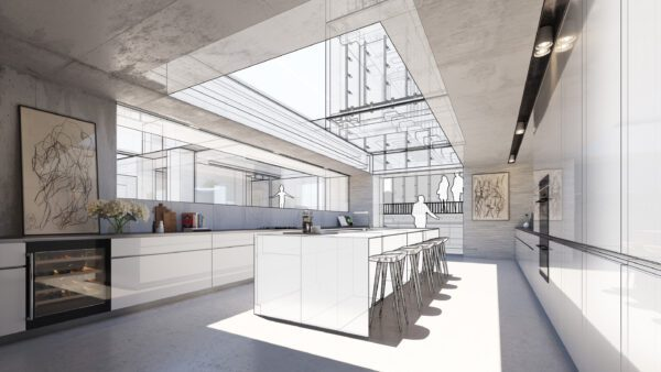 Architekt SketchUp Modell innen 002 scaled